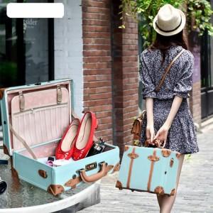 レトロ レザーミニスーツケース 旅行バッグ