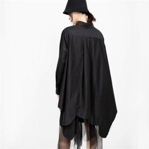 ファッション レディース  ワンピース ゆったり大きい裾幅 オシャレシャツネック 秋 2色 fzcz1909-11 お取り寄せ商品 ichi