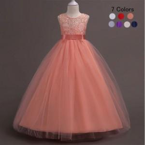 限定セール!子どもドレス ジュニアドレス フォーマル用 ピアノ発表会 子供ドレス 結婚式 女の子 ドレスキッズワンピース 120-170CM