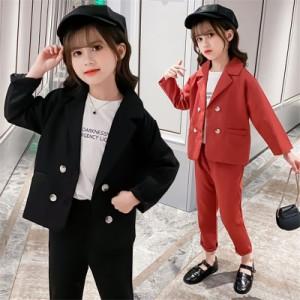 キッズフォーマル スーツ パンツスーツ 女の子 スカートスーツ 女の子 入学式 卒業式 かっこいい 韓国 子供服 女の子 セットアップ キッ