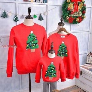 2021新品 厚手裏起毛 クリスマス 衣装 トレーナー スウェット 親子ペア 家族お揃い トップス  メンズ レディース キッズ 子供ママ