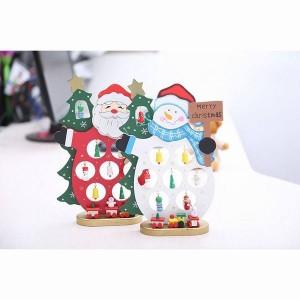 クリスマス飾り サンタクロース スノーマン 飾り 木製 人形 高さ30cm DIY おもちゃ プレゼント カートゥーン 可愛い 装飾 かわいい
