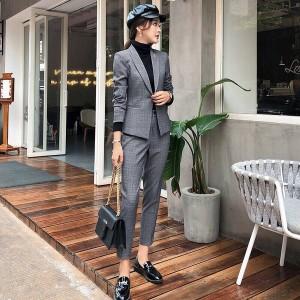 パンツスーツ スーツセット OLスーツ 女性スーツ 事務服パンツスーツ OLキャリア長袖ジャケット セレモニース 細身 レディーススーツ上下
