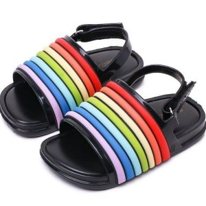 サンダル キッズ ジュニア 子供用 ブルー ブラック ホワイト 14cm-18cmまで ユニセックス 女の子 男の子 子供靴 滑り止め シューズ 子ど