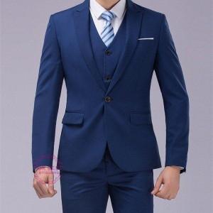 ビジネススーツ 3ピーススーツ スーツセットアップ 1ボタンスーツ 結婚式 スーツ メンズ カジュアルスーツ フォマール 二次会 秋物 秋冬