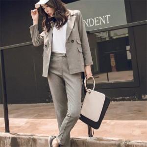 レディース スーツ パンツスーツ スーツセット OLスーツ 女性スーツ 事務服 パンツスーツ ビジネス OLキャリア 通勤 長袖ジャケット おし