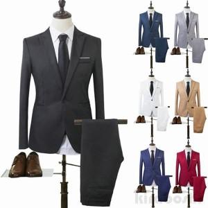 メンズスーツセット ビジネススーツ メンズスーツ スーツセット スーツセットアップ 上下セット フォーマル 就活 就職 紳士服 結婚式 通