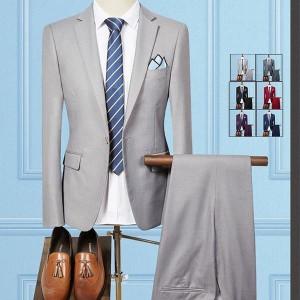 スーツ メンズ ビジネススーツ 2ピーススーツ 1ボタン カジュアルスーツ セットアップ スリム 就職 通勤 二次会 卒業式 秋物 秋冬
