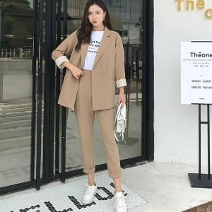 レディーススーツ フォーマル レディース ファッション ジャケット 可愛い ロングパンツ パンツスーツ 女性服 韓国風 スーツ ビジネス OL