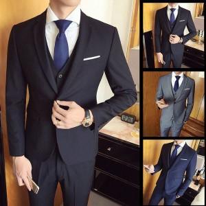 スーツ メンズ スーツセットアップ ビジネススーツ 上下セット 三点セット フォーマル 細身 紳士服 卒業式 大人式 結婚式 通勤 就職 おし