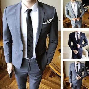 ビジネススーツ メンズ 通勤 スーツセットアップ 上下セット 1ボタン スリーピーススーツ 細身 紳士服 フォマール 就活 就職 結婚式 二次