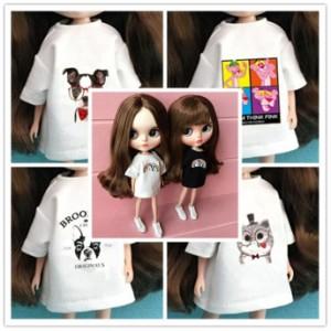 ドール衣装 8種 Tシャツ ビッグサイズ ワンピース 人形服 BJD人形 1/6ドール 30cm カスタム ブライス ICY 球体関節人形