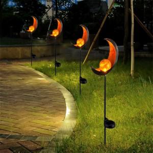 ガーデンライト ソーラー 炎 太陽 月 LED ランプ 庭 防水 屋外 照明 防犯 装飾 日光