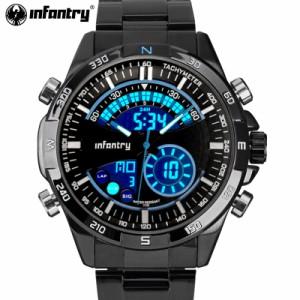 腕時計 メンズ infantry トップブランド 高級 スポーツ デジタル LED