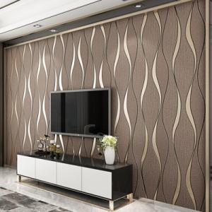 3D壁紙 ストライプ ロール リビングルーム テレビの背景 装飾紙 ウォールペーパー ホームインテリア