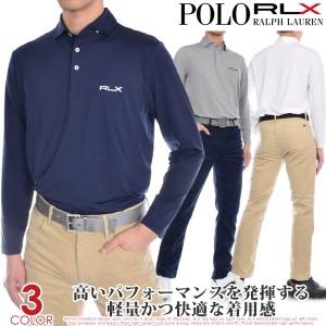 ポロゴルフ ラルフローレン RLX フェザー ウェイト アクティブ フィット 長袖ポロシャツ 大きいサイズ USA直輸入