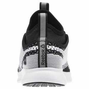 BS5458 Black White Womens Reebok Plus Runner Ultraknit Running Sneaker