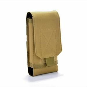 2f9e8a397c ベージュ スマホ ベルト ポーチ スマホケース スマートフォン ケース ウエスト サバゲー 薄型 携帯 小物 マガジン ミリタリー ナイロン