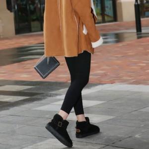 冬 メンズ レディース ムートン ブーツ ショート丈 スノーブーツ ショートブーツ 軽量 暖かい モコモコ カジュアル