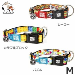【メール便】Max&Molly マックス&モーリー 犬首輪 M ヒーロー/カラフルブロック/パズル 大型犬用 ペット 首輪 お散歩 お出かけ 可愛い