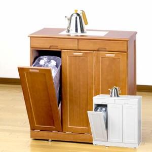 ゴミ箱 木製 分別 ふた付き キッチン ダストボックス 45l ごみ箱 カウンター下 フタ付き 省スペース 白 おしゃれ 30l ブラウン ペール付
