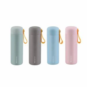 BGM ステンレス製 携帯まほうびん 450ml DOLPHIN キャリーイージーTL グリーン/グレー/ピンク/ブルー AKS619T
