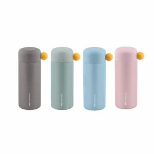 BGM ステンレス製 携帯まほうびん 350ml DOLPHIN ドリンクイージーS グリーン/グレー/ピンク/ブルー AKS618