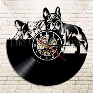 アナログ時計 壁掛け時計  インテリア雑貨  犬デザイン フレンチブルドッグ