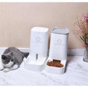 犬 猫 ペット 餌ボウル 餌やり 自動ディスペンサープラスチック お留守番 省スペース シンプル