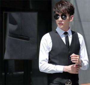 bccb5d39a5258 ベスト メンズ ジレベスト スーツベスト ビジネス フォーマル 紳士服 5ツボタン 大きいサイズ ブラック グレー