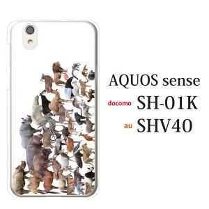 aquos sense shv40 スマホケース aquos ケース SHV40ハードケース スマホカバー  アニマルズ動物 キリン ライオン