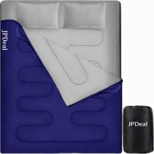 寝袋 封筒型 シュラフ コンプレッションバッグ 枕付き 210T防水シュラフ 連結可能 保温 軽量 コンパクト アウトドア 登山 キャンプ 車中