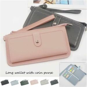f3ae07511f04 財布 レディース 長財布 薄い財布 小銭入れあり 携帯も入る財布 大容量 カード