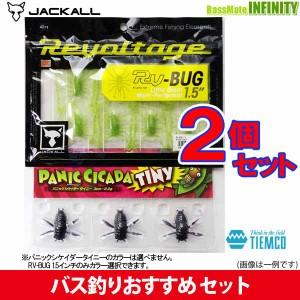 ジャッカル RV-BUG (RV-バグ) 1.5インチ入り 虫ルアー2点セット 【メール便配送可】