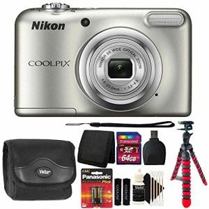 6ed9994a31 Nikon Coolpix a10?16.1?MPデジタルカメラ(シルバー) +予備電池&