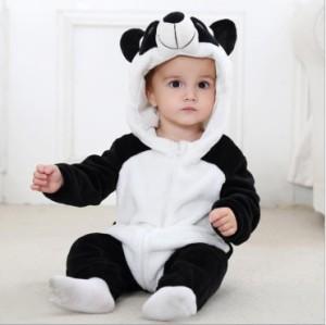 パンダさん 着ぐるみ 動物型 ロンパース 子供 ベビー 着ぐるみ  男の子 女の子 キッズ ベビー服 ベビーウェア 冬服 厚手 ベビー服 赤ちゃ