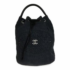 391a0b754722 【中古】 シャネル(Chanel) デニム 2WAY リュックサック 巾着 バックパック