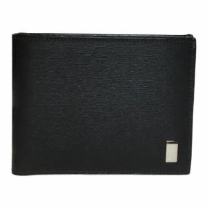 acfe2d0f180c 【中古】 ダンヒル(Dunhill) FP3020E 二つ折り 札入れ レザー 財布 ブラック