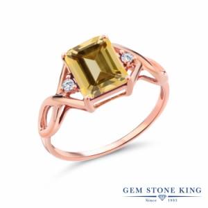 指輪 リング レディース 2.68カラット 天然石 トパーズ ハニースワロフスキー 合成ダイヤモンド シルバー925 ピンクゴールドコーティング