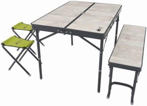 ロゴス LOGOS アウトドア ROSY ファミリーベンチテーブルセット アウトドア キャンプ テーブル チェア ダイニングチェア ベ