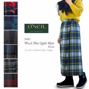 [2020秋冬新作] O'Neil of Dublin オニールオブダブリン Wool Mix Quilt Skirt 83cm ウールミックス キルト スカート キルティング タ