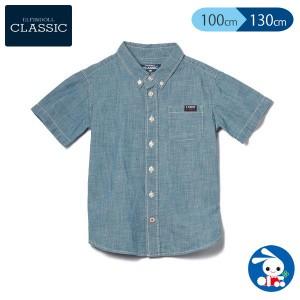 [EFC]インディゴデニムシャツ【100cm・110cm・120cm・130cm】[半袖シャツ 子供 キッズ キッズ服 子ども こども 子供服 子ども服 こども服