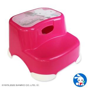 [サンリオ]ビーンズステップ2段(ハローキティ)[子ども ステップ 踏み台 子供 こども キッズ ステップ台 洗面所 踏台 トイレトレーニン
