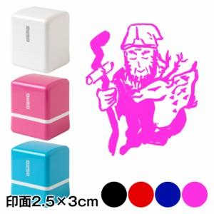 寿老人 七福神スタンプ浸透印 印面2.5×3cmサイズ (2530) Self-inking stamp, Seven Gods of Good Fortune