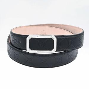 5のつく日 グッチ ベルト メンズ シグネチャー レザー スクエア バックル ブラック 403941 CWC0N 1000 送料無料 プレゼント 実用的 ギフ