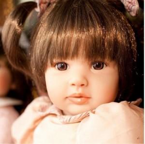 リボーンドール ボブヘア 2つ結びの女の子 プリンセスドール トドラー人形 赤ちゃん ベビー 人形 ドール 衣装付き 60cm