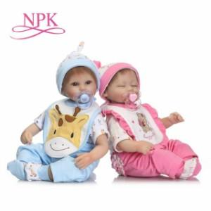 17インチ 高級 男女の双子ちゃん ミックス双子 リボーンドール 赤ちゃん人形 ベビー人形 ベビードール トドラードール リアル