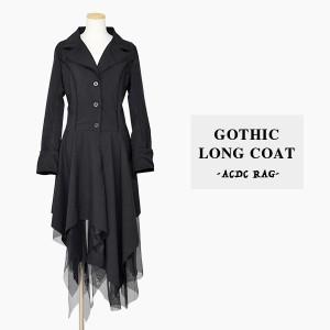 3ボタンワンピース | ゴシック コート ロング ゴスロリ ワンピース 黒 ドレス 衣装 服 ゴシック ゴス パンク ロック V系 ヴィジュアル系
