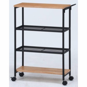 キッチンワゴン キャスター付き 4段 テーブル 天板 木製 スリム おしゃれ 作業台 安い コンパクト キッチン ワゴン 幅65 ロータイプ アイ