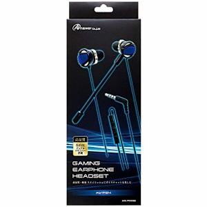 【新品】【PS4HD】PS4用 ゲーミングイヤホンヘッドセット(ブラック/ブルー)[お取寄せ品]